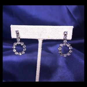 Sparkling Circle Drop Earrings